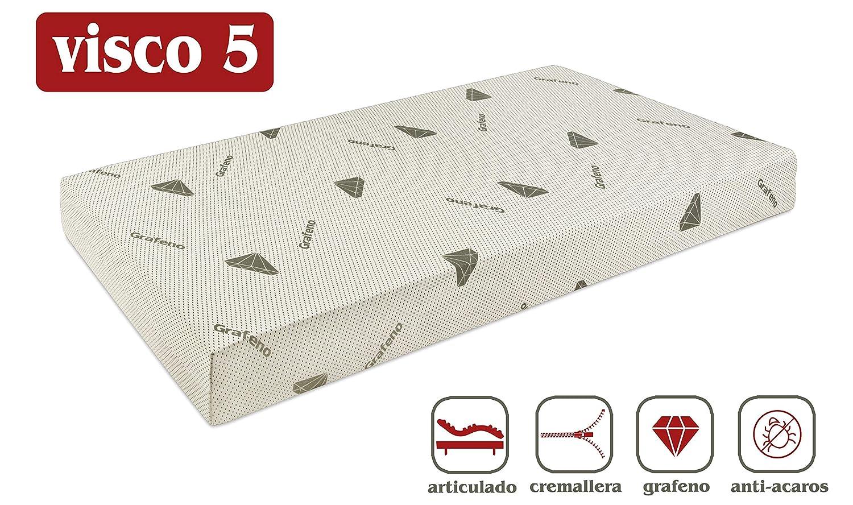 Ferlex Art-Grafeno Colchón Viscoelastico colchon Articulado Desenfundable Colchones Relax (80_x_180_cm, SIN Visco): Amazon.es: Juguetes y juegos