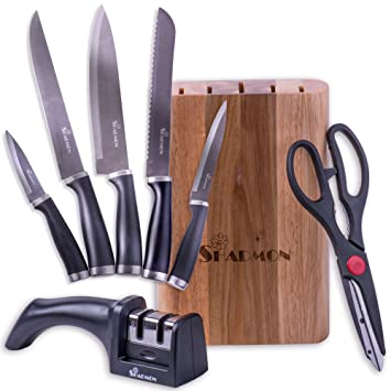Amazon.Com: Premium Professional Kitchen Knives Set Block, #1