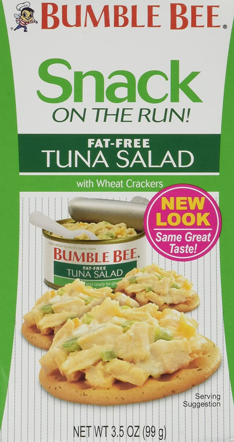: Bumble Bee Fat Free Tuna with Crackers, 3.5 Ounce (Pack of 12) : Packaged Tuna Fish : Grocery & Gourmet Food
