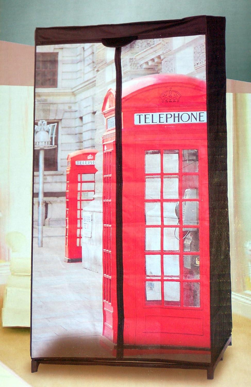 Sesua Spetebo - Armario de Tela Cabina telefónica de Londres: Amazon.es: Hogar