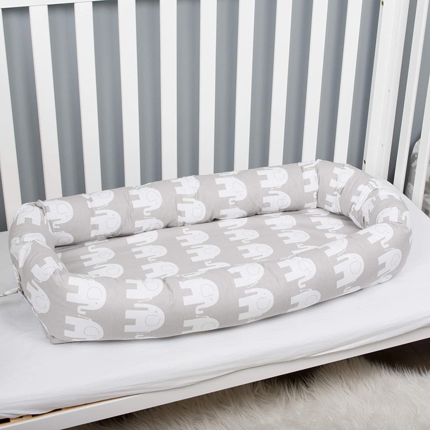 Baby Grand Nest Newborn With Bed Canopy Sleeper Toddler Portable Crib Lounger