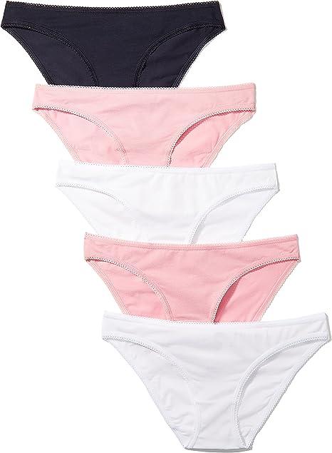 Marca Amazon - IRIS & LILLY Braguita Estilo Bikini de Algodón para Mujer, Pack de 5: Amazon.es: Ropa y accesorios