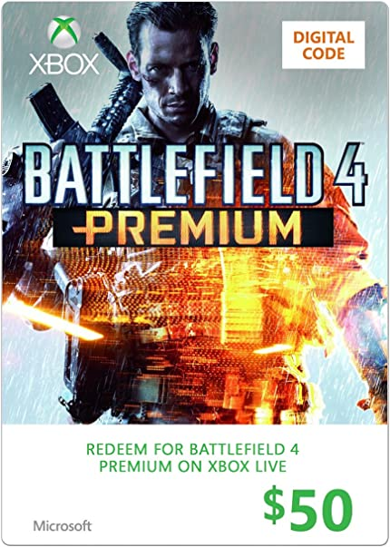 Xbox $50 Gift Card (Battlefield 4 Premium     - Amazon com