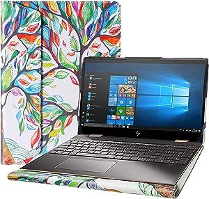 """Alapmk Protective Cover Case for 15.6"""" HP Spectre x360 15-ebXXXX 15-EB0053DX 15-EB0043DX Series Laptop[Note:Not fit Spectre x360 15-blXXXX 15-chXXXX 15-dfXXXX 15-apXXX],Love Tree"""