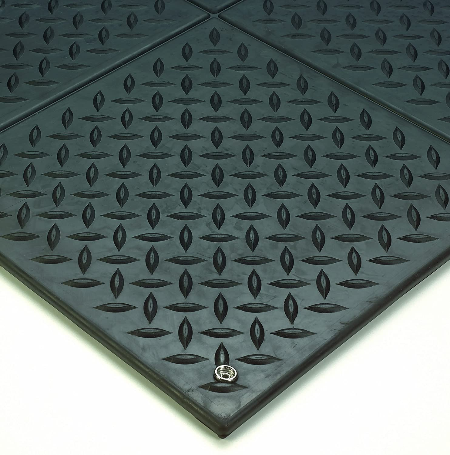 wearwell natural rubber 788 modular diamond plate conductive esd