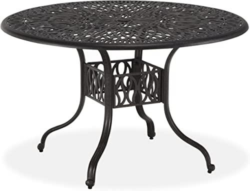 Home Styles Floral Blossom Charcoal 48-inch Round Dining Table
