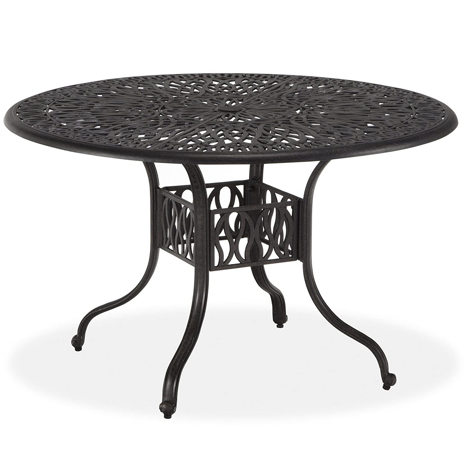 Amazoncom Home Styles Floral Blossom Round Dining Table Inch - White metal outdoor dining table