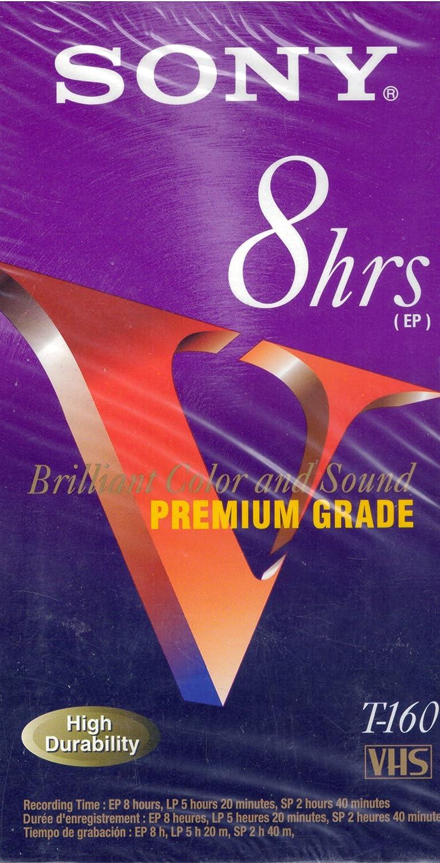 Sony 8hrs Premium Grade T-160 VHS Video Cassette