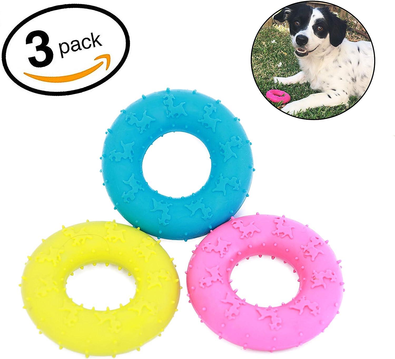 Mahonés Lifestyle - Pack de 3 Juguetes para Perros (Donuts de Goma ...