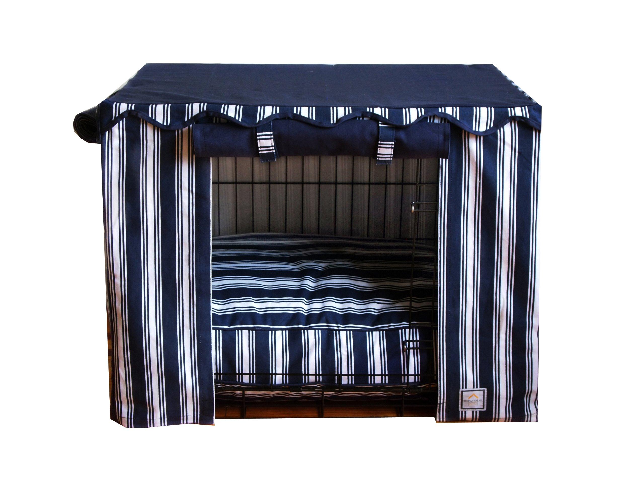 BowhausNYC Nautical Stripe Crate Cover, Medium