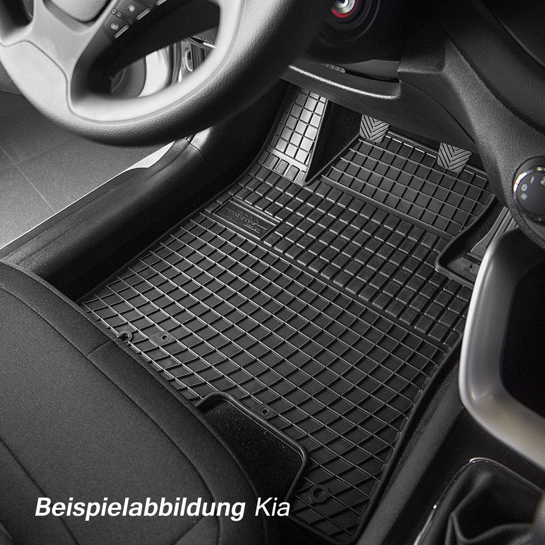 Gummifußmatten für Mercedes GLK X204 X 204 2008-4tlg