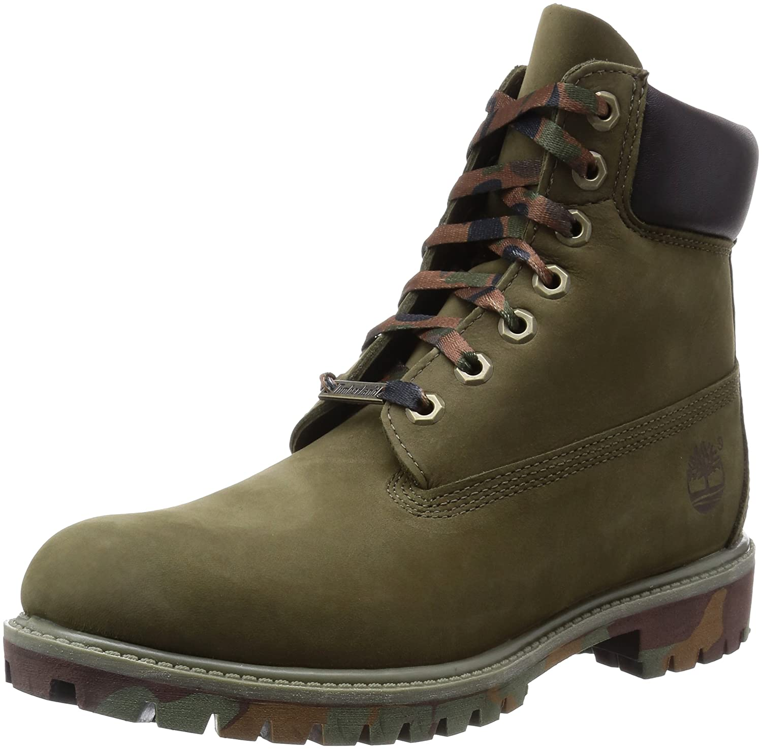 Timberland Men's Icon 6 Inch Premium Waterproof Boots, Durable and Comfortable Full Grain Premium Leather with Double Foamed Padded Collar