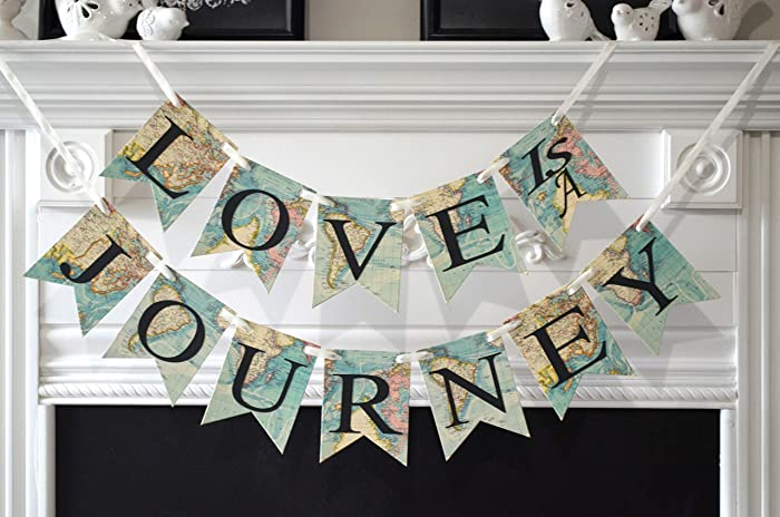 love is a journey bridal shower banner travel theme wedding decoration travel bridal shower