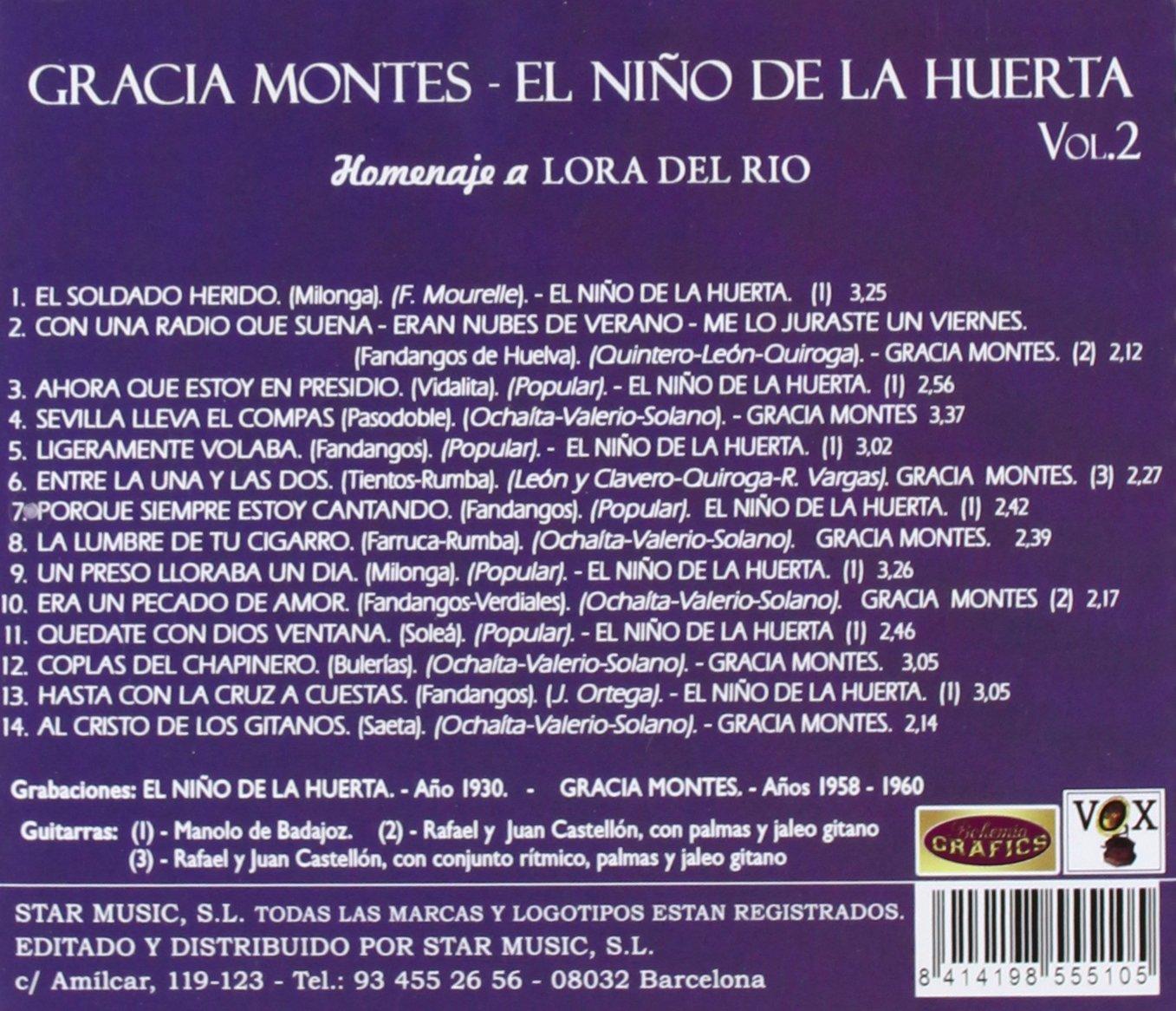 Homenaje A Lora Del Río: Tierra De Artistas - Volumen 2: Gracia ...