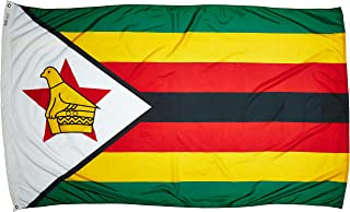 product image for Annin Flagmakers Model 199518 Zimbabwe Flag Nylon SolarGuard NYL-Glo, 5x8 ft, 100% Made in USA to Official United Nations Design Specifications