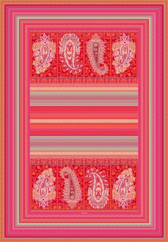Bassetti MOCENIGO R1 - Manta (135 x 190 cm), Color Rojo