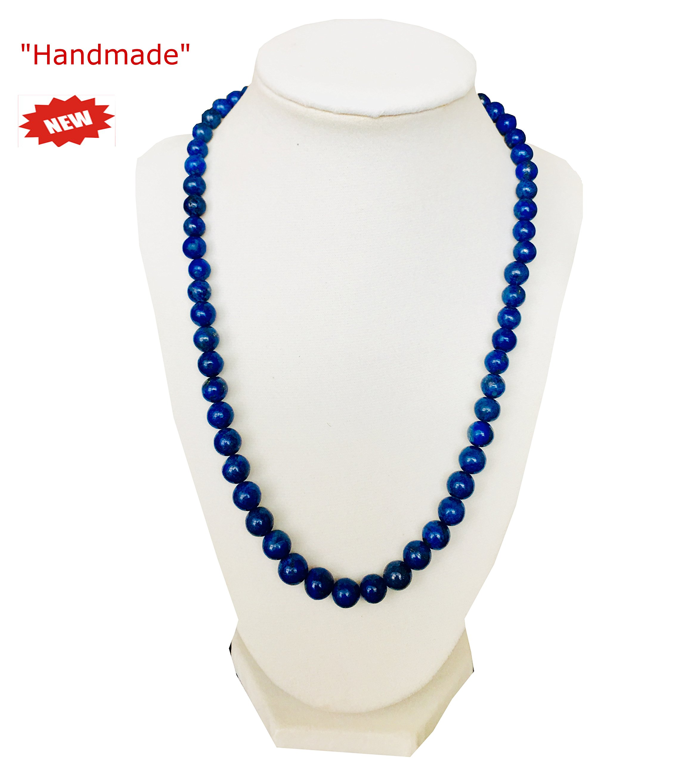 Himalayan Handmade Elegant Necklace Blue Color Multi Size Coral Shape Beads Gemstone Comes With Gift Box