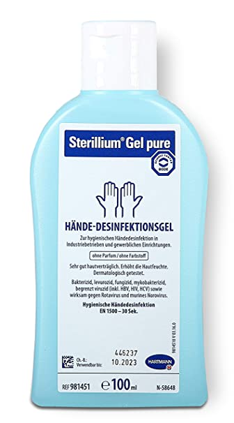 Sterillium Gel Pure 100ml Breites Wirkungsspektrum Gegen Bakterien