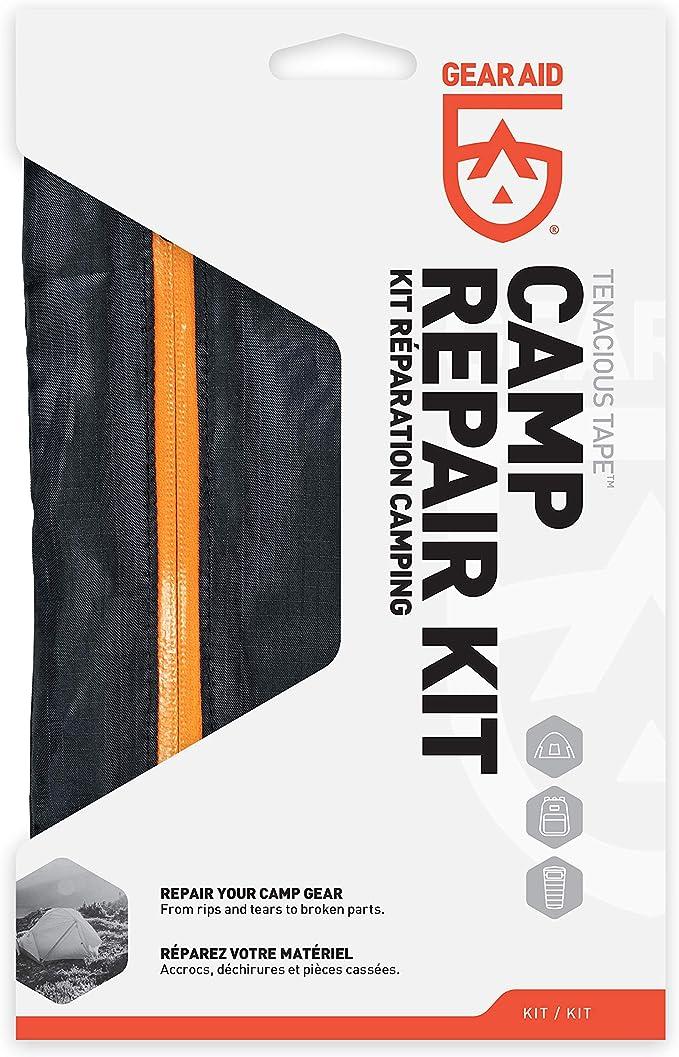Gear Aid Zipper Kit Réparation Tente Veste Duffel Bag Back Pack Fermetures Éclair Camping