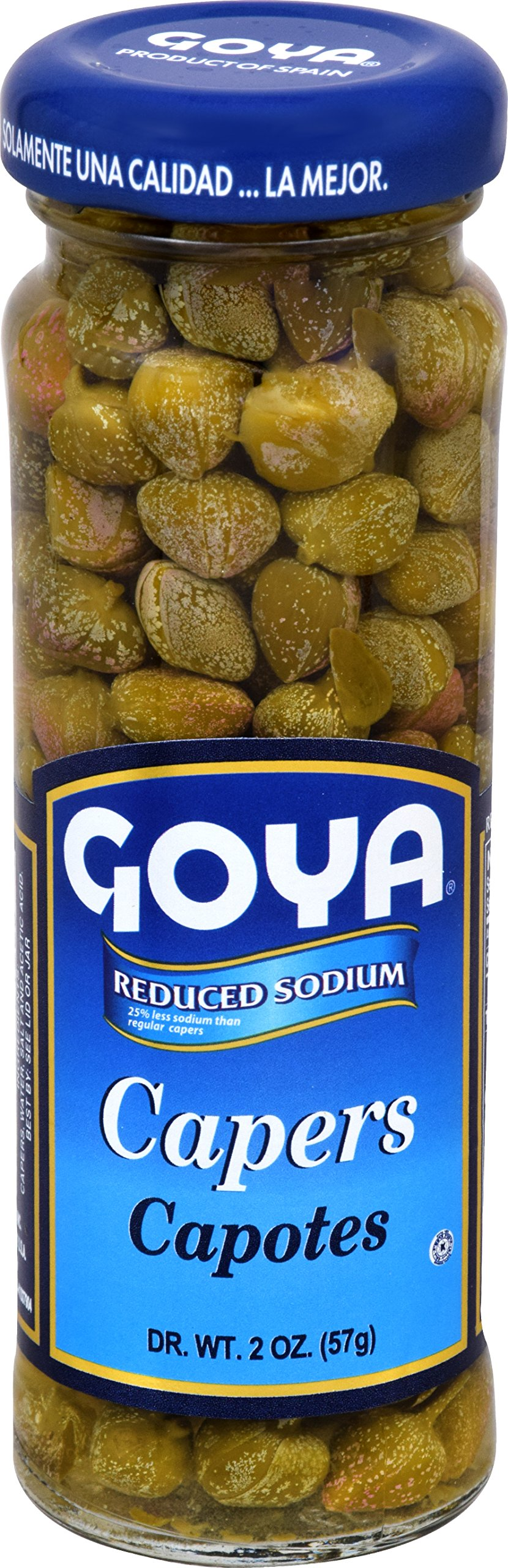 Goya Foods Reduced Sodium Capers, 2 Ounce (Pack of 12)