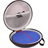 LTGEM PU Leather Shockproof Travel Carrying Case Bag for Ultimate Ears UE Roll 2 or UE ROLL 360 Ultraportable Bluetooth Speaker.Fits Power Adaptoer and USB Cable.
