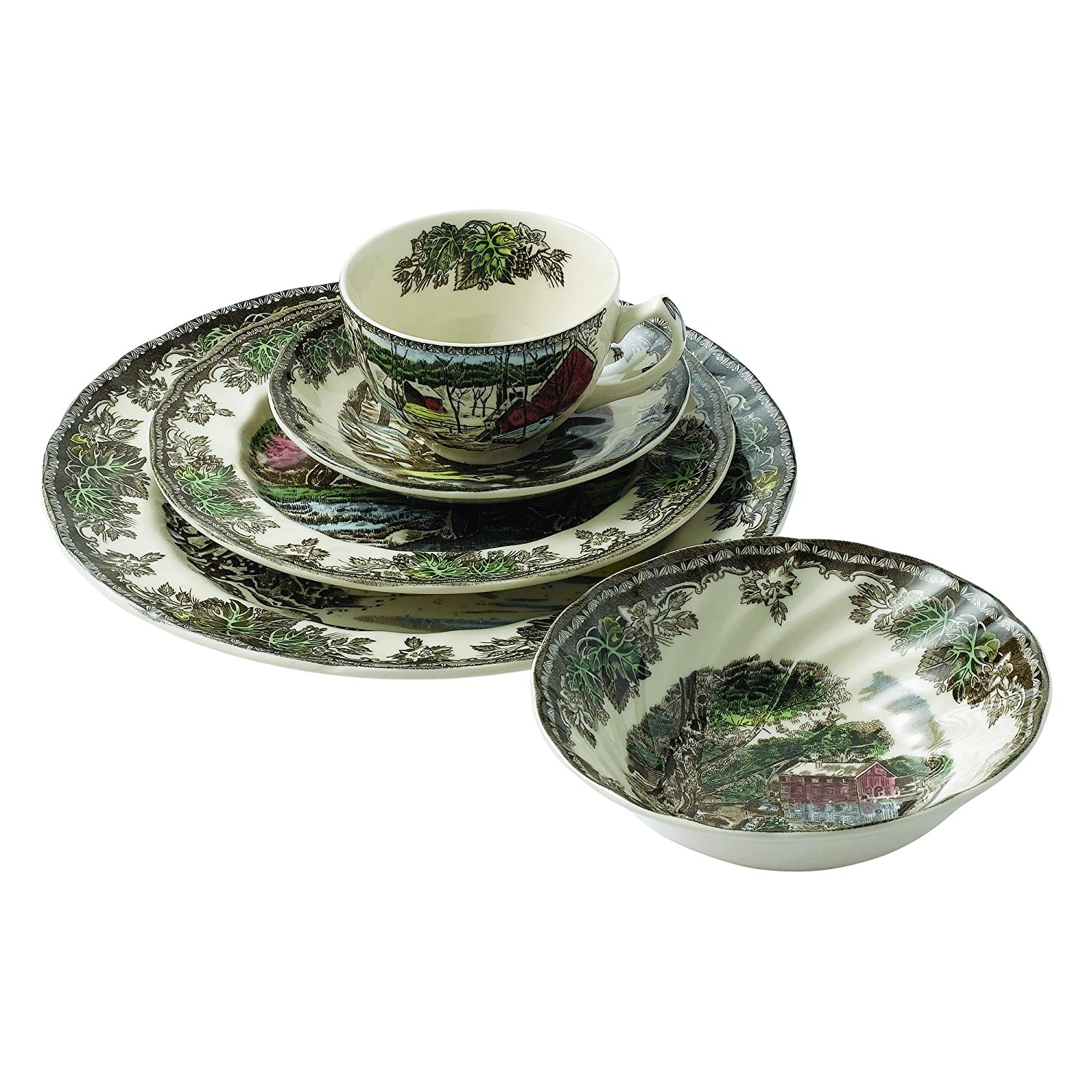 Amazon.com: Johnson Brothers Friendly Village 5 Piece Place Setting ...