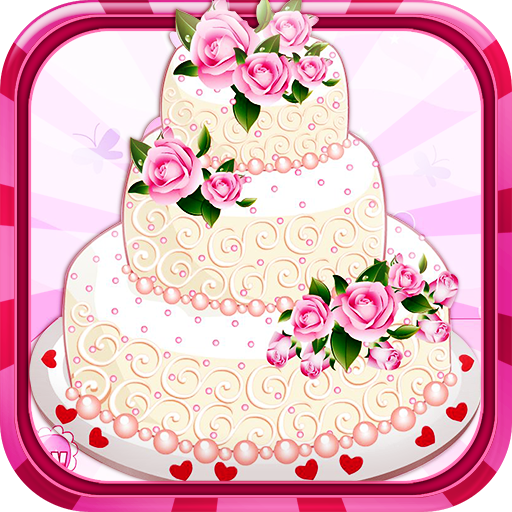 - Rose wedding cake - Cooking game