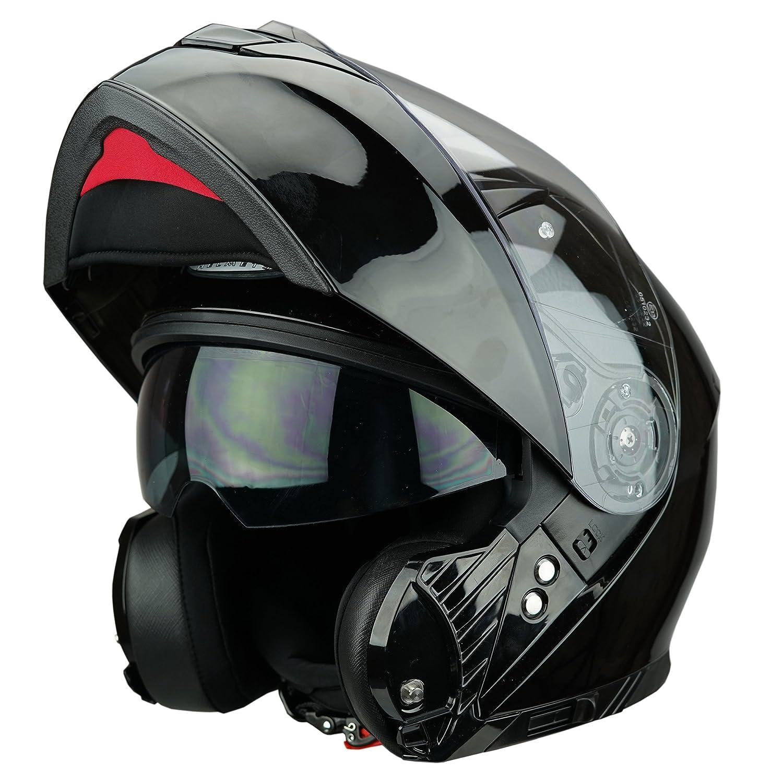 Viper RSV445 Flip up Front Motorbike Motorcycle Helmet Pinlock Ready Black L (59-60cm) Touch Global Ltd