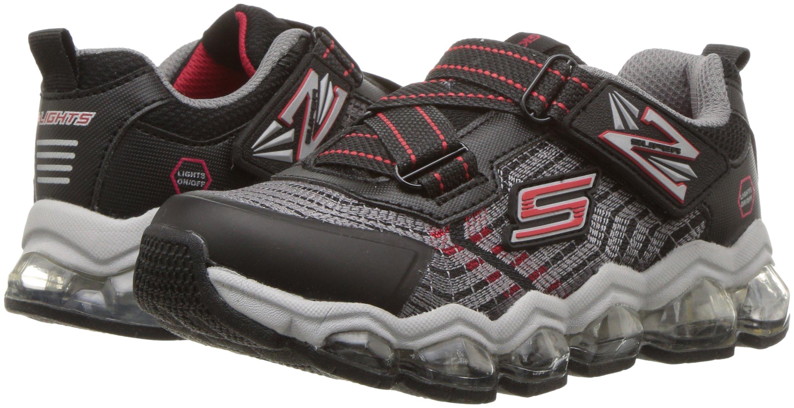 Skechers Kids Boys' Turbo-Flash-90596L Sneaker,Black/red,3 Medium US Little Kid by Skechers (Image #5)