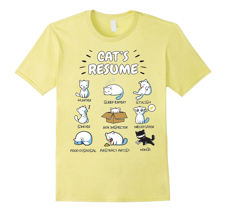 A Cat's Resume! T-shirt for Men & Women!-FL