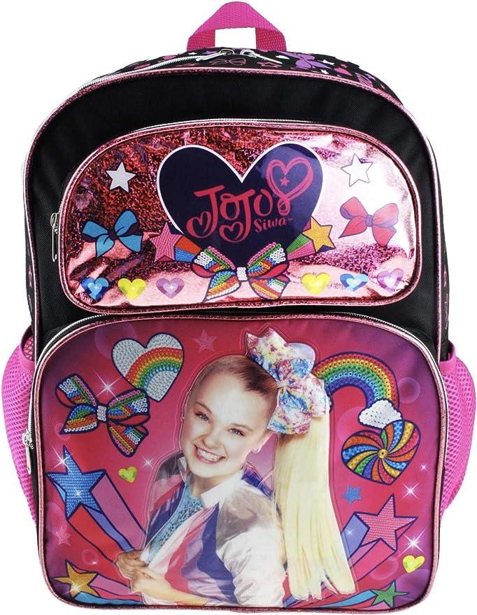 """JoJo Siwa Black Deluxe 16/"""" School Bag Backpack"""