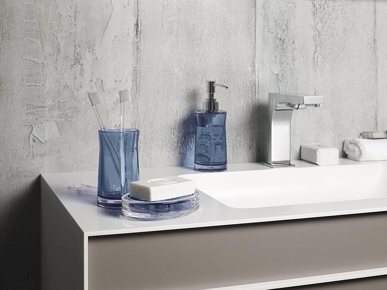 Blu Spirella Collezione Sydney Acrilico Spazzola per Il Bagno WC lavabo Creativo 38,0/x 10,0/x 10,0/cm 38.0/x 10.0/x 10.0/cm