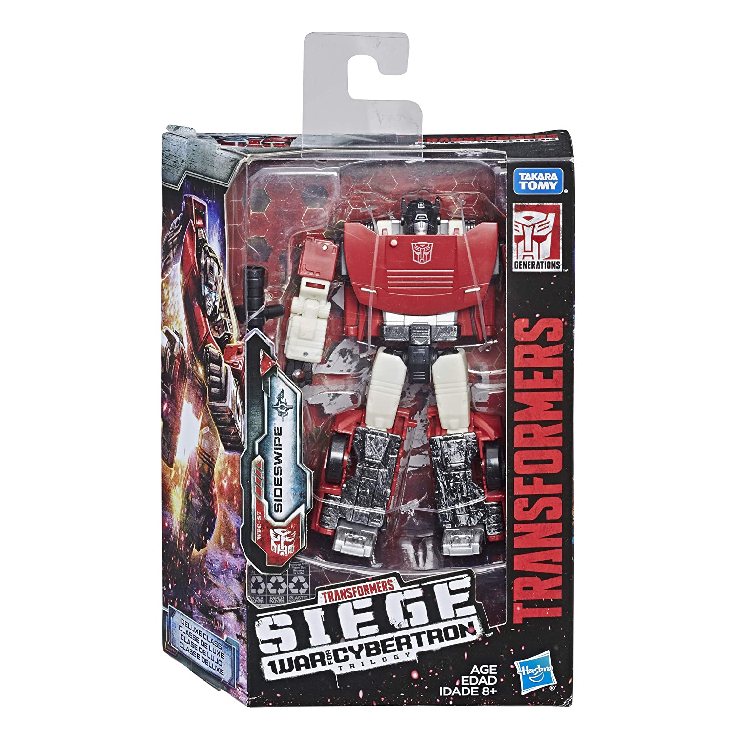 Transformers Generations War for Cybertron Siege Deluxe Class Wfc-S10 SIDESWIPE Action Figure Hasbro E3530