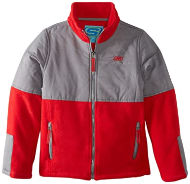 Amazon.com: Skechers Big Boys' Full-Zip Polar-Fleece Jacket ...