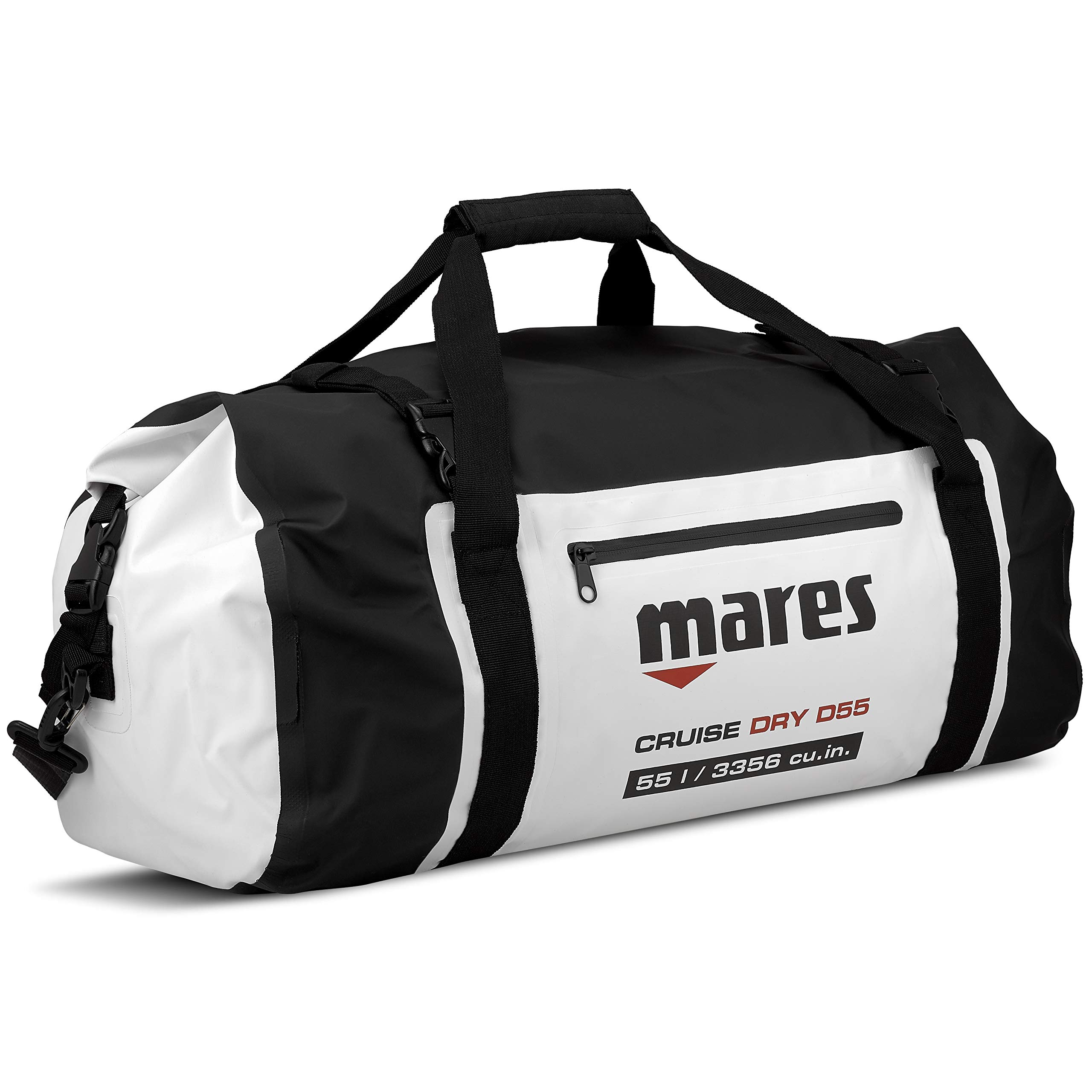 Mares 415450-BKWH MBP15 Cruise Roll-Top Closure Dry Bag, Black/White, 15 L