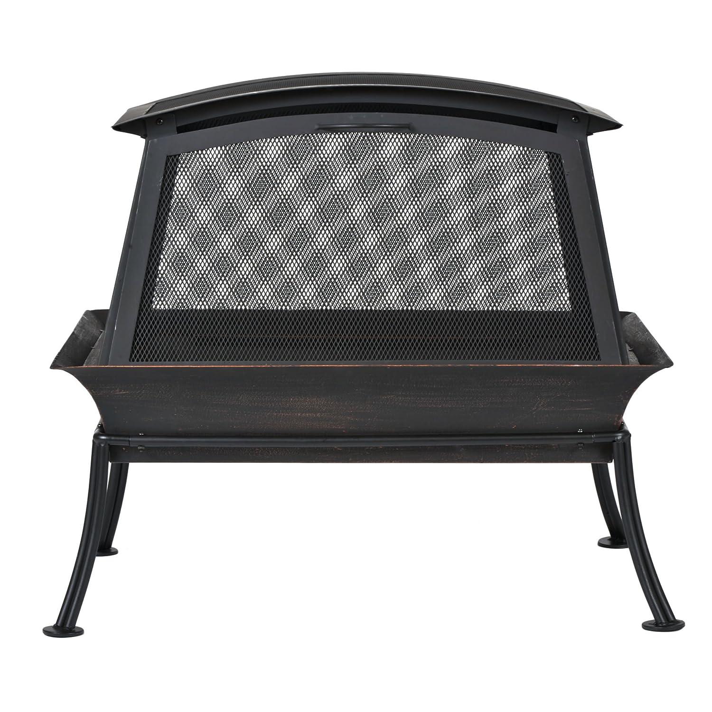 amazon com cobraco fb6200s steel fireplace fire pit fire pits