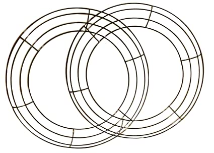 Amazon.com: Metal Wreath Ring Wire Frame for Floral Arrangements 14 ...