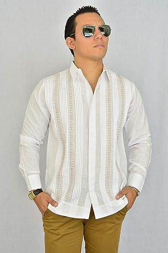5d5d375310 Camisa Guayabera Yucateca Casual Lino Original cfkvikml14  Amazon ...
