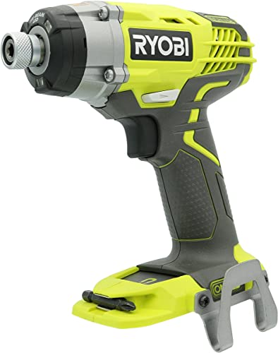 Ryobi P237 18V One Lithium Ion Cordless Multi Speed 1-1 4 Inch Keyless Chuck Impact Driver w Belt Clip and LED Battery Not Included Power Tool Only