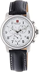 Swiss Military Hanowa Mens 06-4142-04-001 Swiss Soldier Chronograph White Dial
