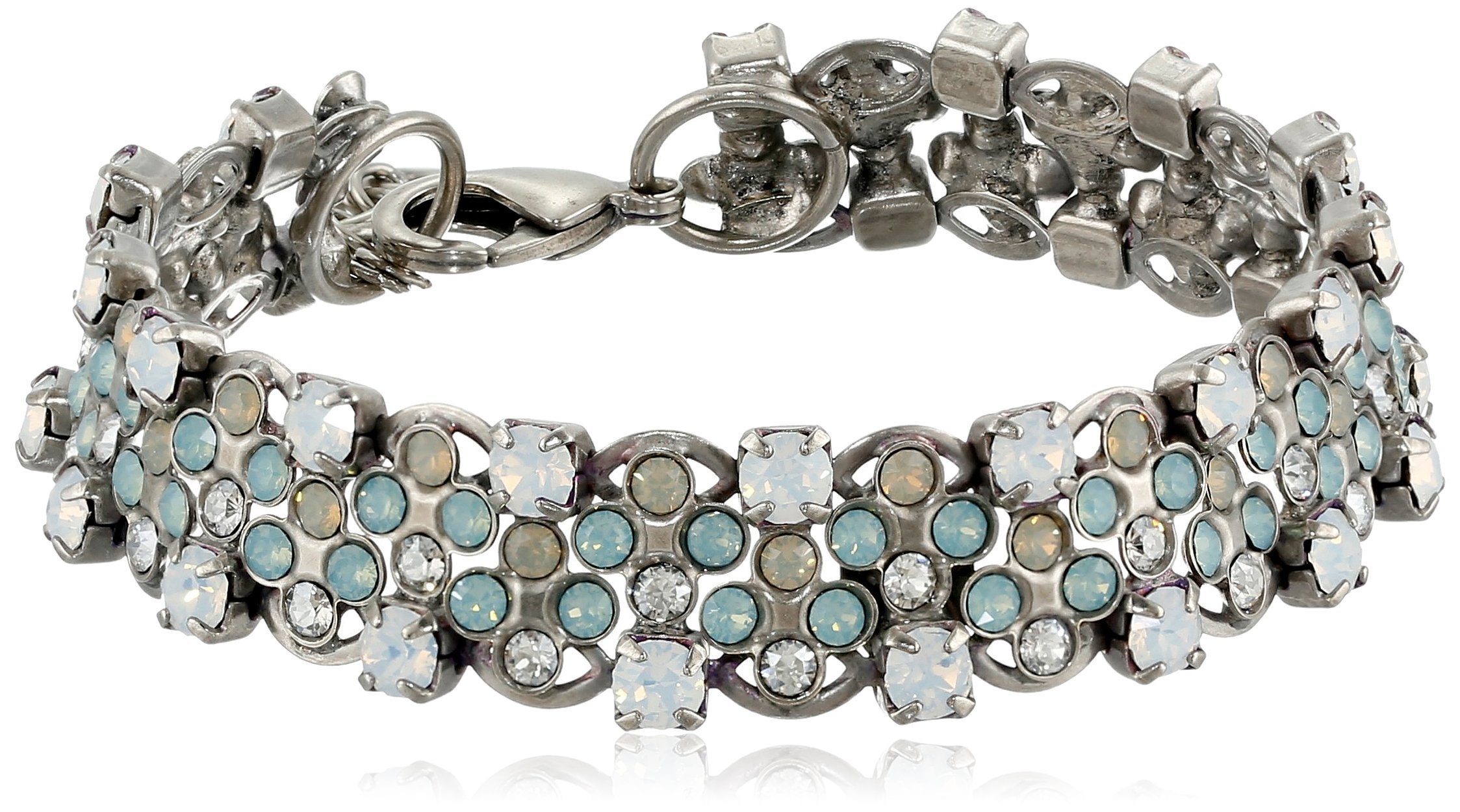 Sorrelli  ''Aegean Sea'' Staggered Crystal Bracelet, 7.5''