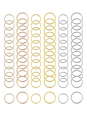 amazon com hicarer 180 pieces hair rings braid rings hair hoops