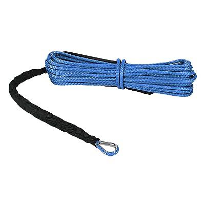 "Extreme Max 5600.3078 ""The Devil's Hair"" ATV / UTV Winch Rope, Blue: Automotive"