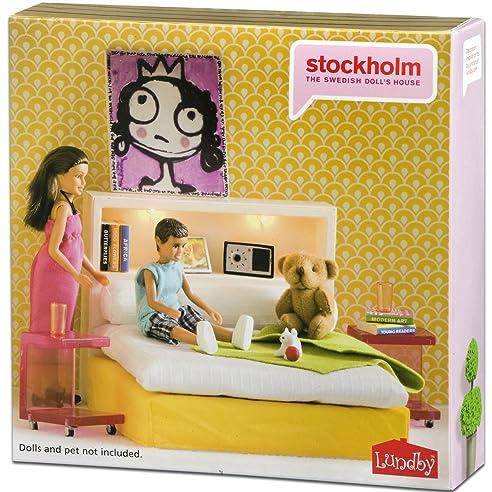 Stockholm Schlafzimmer, Bett, Rückwand Mit Licht, Teddy Etc