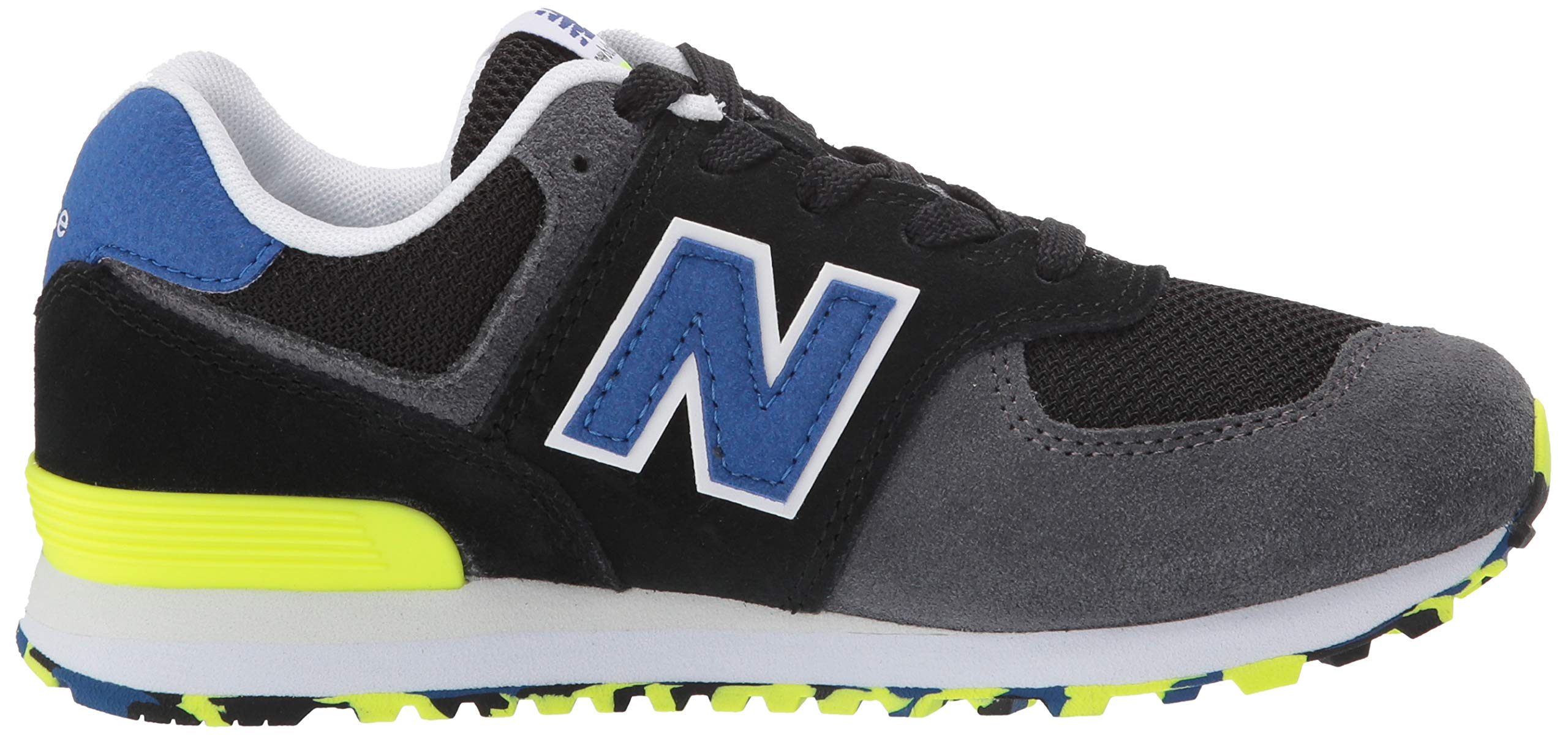 New Balance Boys' Iconic 574 Sneaker Black/Royal Blue 4.5 M US Big Kid by New Balance (Image #7)