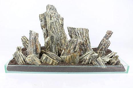 Retne - Piedras de Pizarra para decoración de Acuario ...