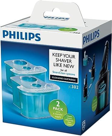 Philips JC302/50 - Cartuchos de limpieza con sistema de filtro dual y lubricacion activa, refrescantes, 2 unidades