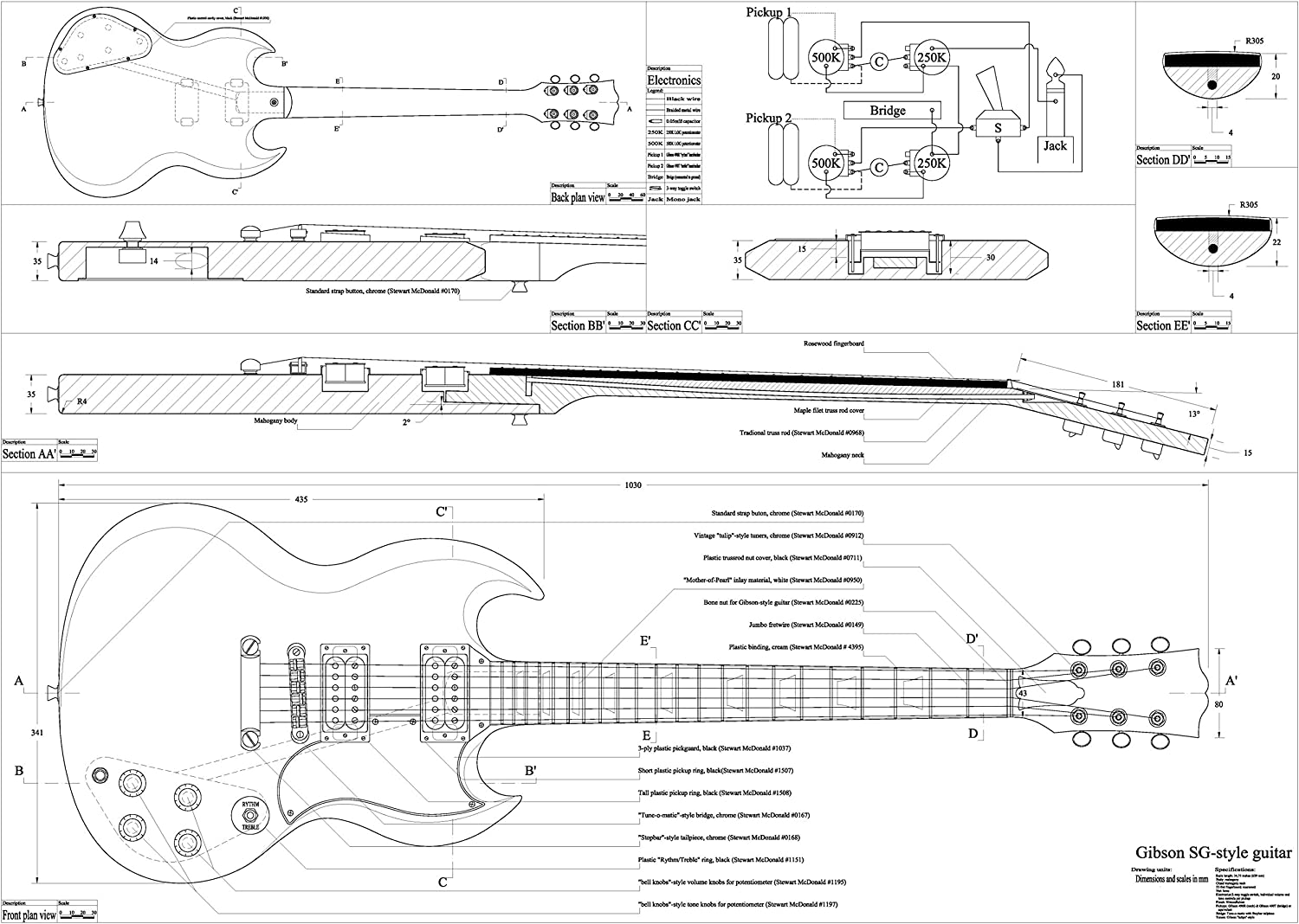 Wiring Diagram For Gibson Sg