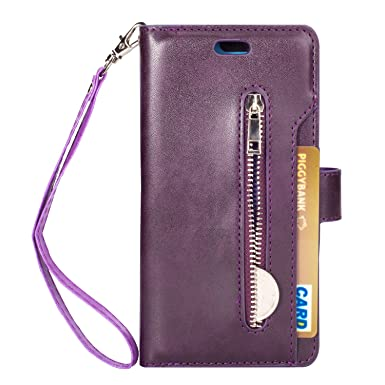 new york cb7ea b5000 Shanlove Huawei P20 Lite Wallet Case, PU leather Case with ID Credit ...
