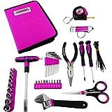 MASTERTEC Pink 50pc Zipper Case Tool Kit